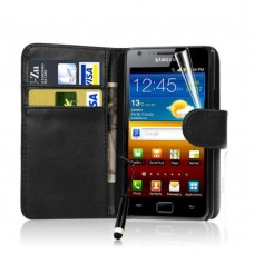 Wallet Style Leather Flip Pouch for Samsung Galaxy S4
