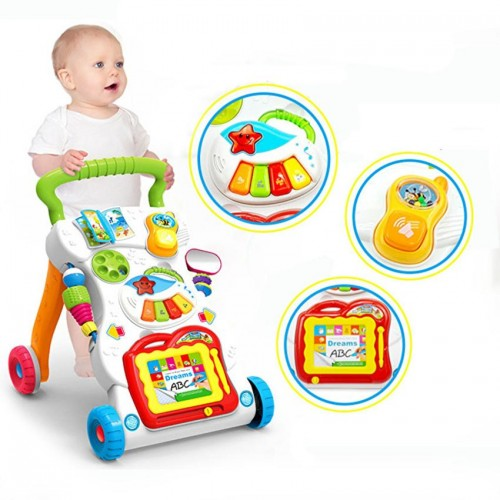 Huanger Baby Musical Push Walker