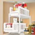 2 Tier Portable Sliding Basket Drawers