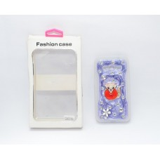 Fashion Rhinestone Back Cover for Samsung Galaxy Core2 G355H - White and Dark Blue