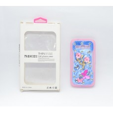 Fashion Rhinestone Back Cover for Samsung Galaxy Core2 G355H - Pink and Blue