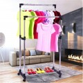 Double Pole Clothing Rack