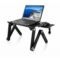 Adjustable Laptop Table with Cooling Fan
