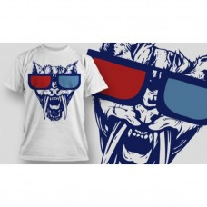Monster 3D White T-Shirt for men