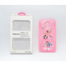 Fashion Rhinestone Back Cover for Samsung Galaxy Note 4 - AFCO4014