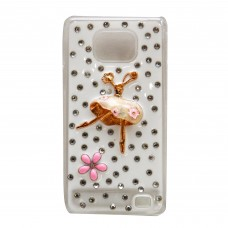 Fashion Rhinestone Back Cover for S2 - White