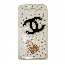 Fashion Rhinestone Back Cover for S3 - White
