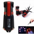 8 in 1 Portable Screwdriver with 6 LED Torch