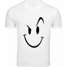 Smiley White T-Shirt for men