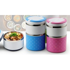 Stainless Steel Lunch Box with Two Storey