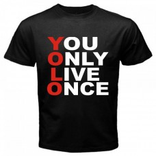 YOLO Black T-Shirt for men