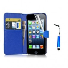 Wallet Style Leather Flip Pouch for iphone 5