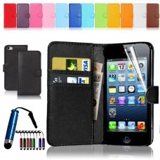 Wallet Style Leather Flip Pouch for iphone 4